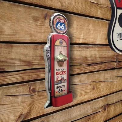 """""""Route 66"""" - Ouvre-bouteille de pompe à essence"""