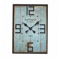 Horloge bois de grange turquoise