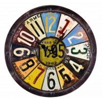 Horloge métal plaque