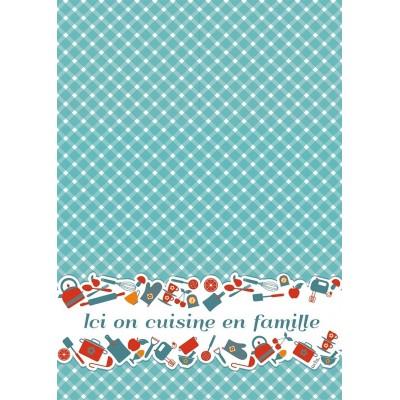 LINGE A VAISSELLE ICI ON CUISINE EN FAMILLE